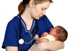 Newborns experiencing drug withdrawal symptoms